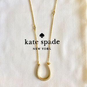 Kate Spade Pave Horseshoe Pendant Necklace